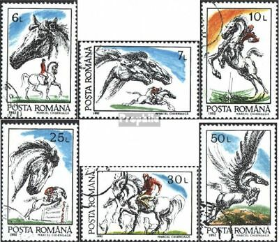 Romania 4784-4789 (complete issue) used 1992 Horses