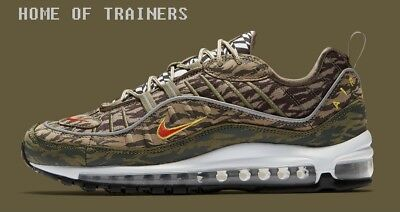 NIKE AIR MAX 98 AOP Pack Khaki Team Orange Medium Olive Camo