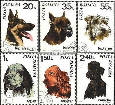 Romania 2908-2913 (complete.issue) used 1971 Dogs
