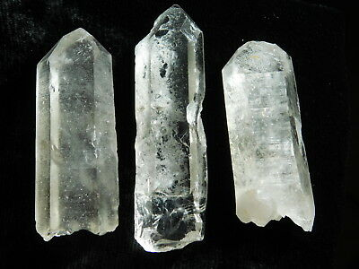 Lot of THREE! Nice and 100% Natural Quartz Crystals Found in ARKANSAS! 100.8gr e