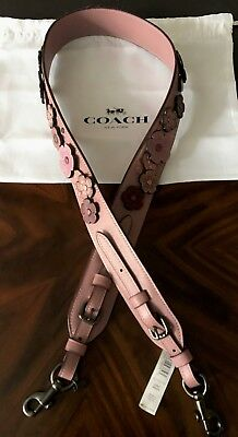 f73bfdee0154 NWT COACH NOVELTY Strap TEA ROSE Applique Leather Shoulder Crossbody Bag  Strap