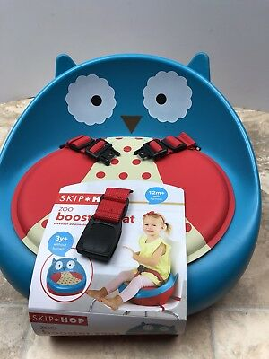 """Booster Seat Toddler Skip Hop Zoo Owl Chair Seat """"SO CUTE"""""""