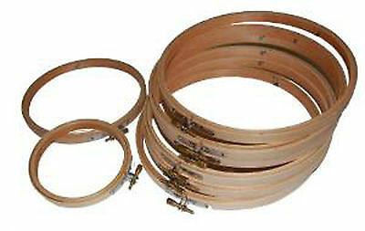 """8"""" Wooden Embroidery Hoop Ideal For Tapestry And Cross-stitch, Great Quality"""