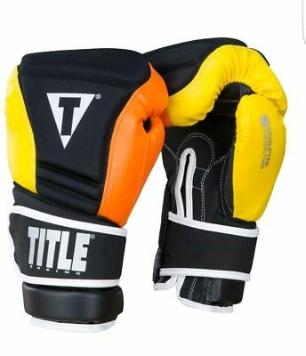 "Handwraps TITLE Boxing Menace Metallic Training Gloves W// Free TITLE 180/"" Mex"