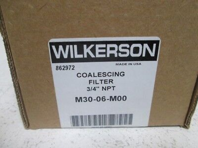 """Wilkerson M30-06-M00 Coalescing Filter 3/4"""" *new In Box*"""