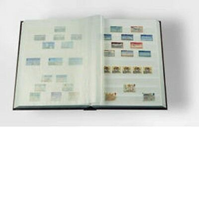 Stockbook A4, 64 white pages,padded cover, blue
