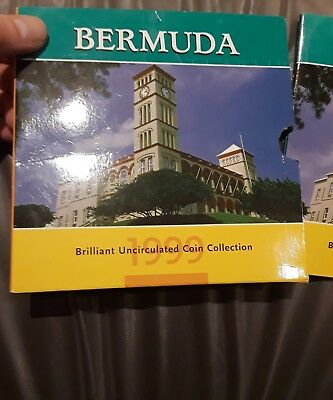 1999 bermuda brilliant uncirculated coin collection royal mint queen elizabeth