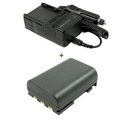 Battery + Charger for Canon Powershot G9 G7 S45 S80 CB-2LWE CB-2LW NB-2L NB-2LH