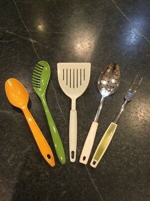 Fab Lot Vintage Kitchen Utensils from Ekco and Hutzler Melamine - Mainly 1970's