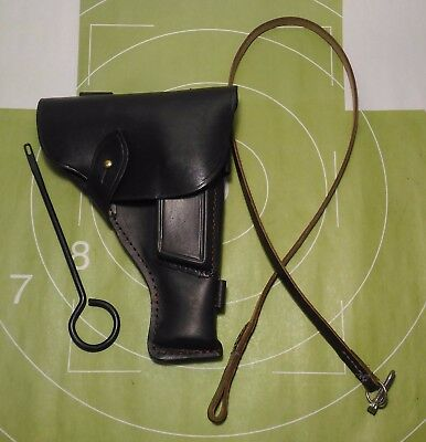 Holster TT 33 TOKAREV  leather and safety strap and clean out ramrod year 2001