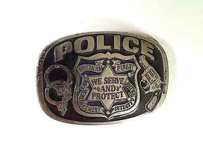 Police Belt Buckle America's Finest We Serve And Protect Buckle Bakery 1654