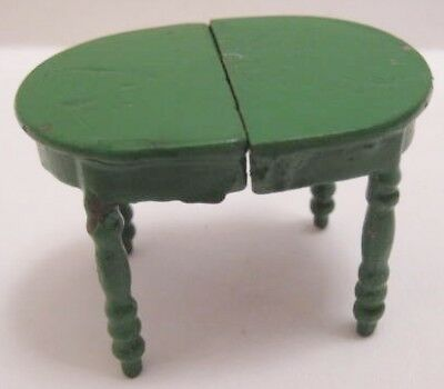 Old 1920s Miniature Cast Iron Dollhouse Table 2 pc w/wire connecter
