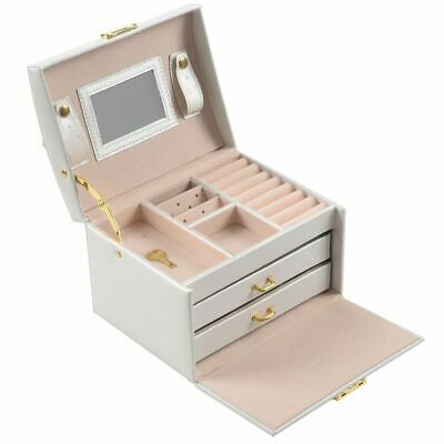 Large Jewellery Box Armoire Dressing Chest with Clasps Bracelet Ring Organi B1Q2