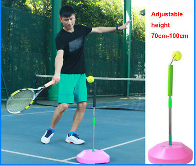 Portable Tennis Practice Trainer Hit Ball Swing Back Perfect Aid Stroke Machine