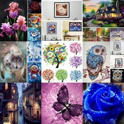 New 5D Diamond DIY Painting Animals Embroidery Cross Crafts Stitch Kit DIY Decor