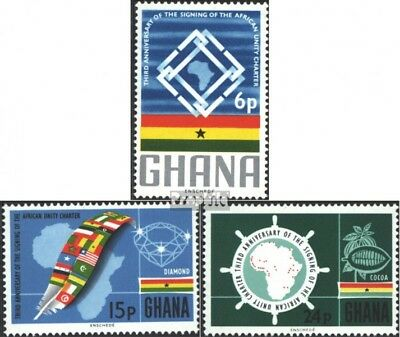Ghana 266-268 (complete issue) unmounted mint / never hinged 1966 African Charte