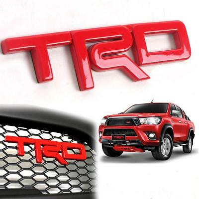 Fit Toyota Invincible TRD Red ABS Sticker Vehicle Logo Emblem Badge 1 PC