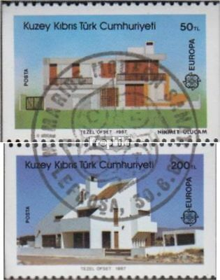 Turkish-Cyprus 205C-206C (complete issue) used 1987 Modern Arch