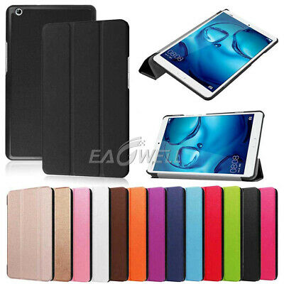 """For Huawei Mediapad T3 M5 7"""" 8"""" 8.4"""" 9.6"""" 10.8"""" Tablet Magnetic Leather Case+Pen"""