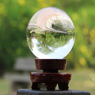 100mm Clear Glass Crystal Healing Ball Photography Lens Ball Sphere K9 Home Deco