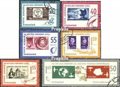 Romania 2189-2194 (complete issue) used 1963 to Day the Stamp