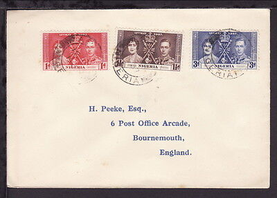 Nigeria 1937 Kgvi Coronation Stamps Set Cover (L059)