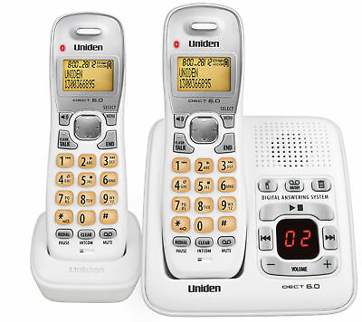2 Dect Twin Uniden Cordless Phone Landline Home Office Telephone Desktop Desk