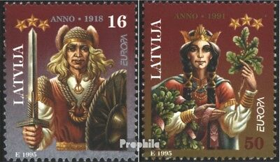 Latvia 414-415 (complete issue) unmounted mint / never hinged 1995 Peace