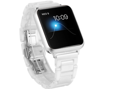 "Sivel Keramik Armband ""Maas"" weiß Apple Watch 42mm Uhrenarmband Gliederarmband"