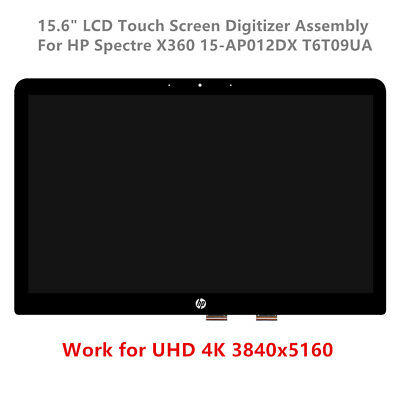 "15.6"" LCD Touch Screen Digitizer Assembly For HP Spectre X360 15-AP012DX UHD 4K"