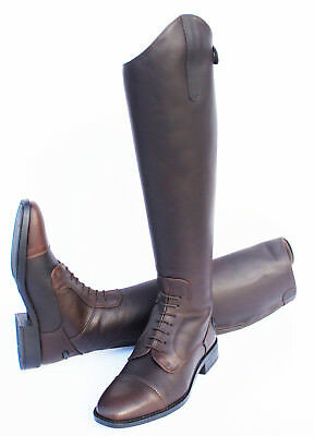 NEW Rhinegold Luxus Long Soft Leather Horse Riding Boots 4 Widths now in Brown