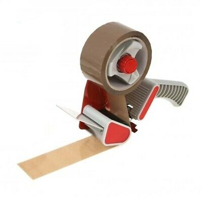 "2"" Tape Gun Dispenser + 1 Roll Of Brown Packing Tape 48Mm X 50M"