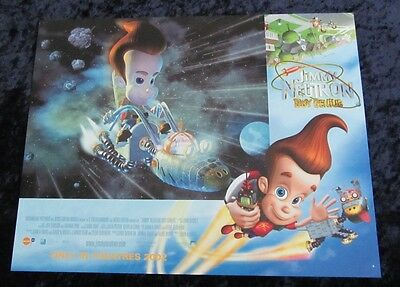 Jimmy Neutron lobby card # 6 Nickelodeon - 11 x 14 inches