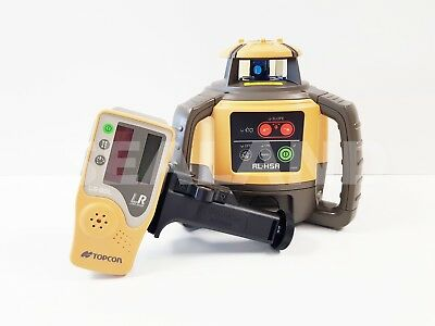 Topcon RL-H5A Rotating Laser with LS-80L Receiver, Rec Pack Tripod & Staff