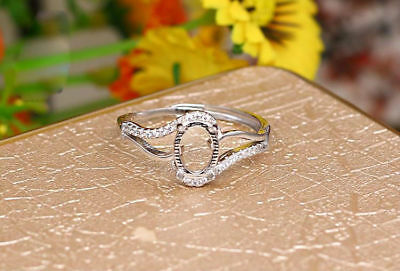 925 Sterling Silver Ring Base/Blank | Choice of 4 Setting Sizes | Adjustable