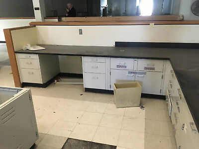 """30"""" High """"Low Height"""" Seated Laboratory Casework Benches sold in 16' Lots"""
