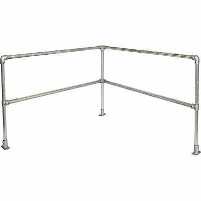 Safety Rail Company Accu-Fit Express Rail Kit- Corner Galvanized 6ft x 6ft