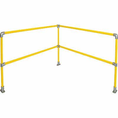 Safety Rail Company Accu-Fit Express Rail Kit- Corner Yellow 6ft x 6ft #400770