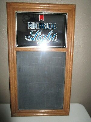 *last Chance* Vintage Michelob Light Mirror, Chalkboard Sign-Faux Wood Frame
