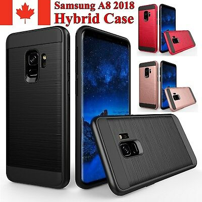 For Samsung Galaxy A8 2018 Case - Hybrid Shockproof Armor Heavy Duty Cover