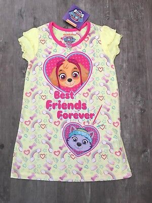 42184cb5ce Girls Yellow Paw Patrol Best Friends Forever Nightie Nighty Pyjamas 3 - 4  Years
