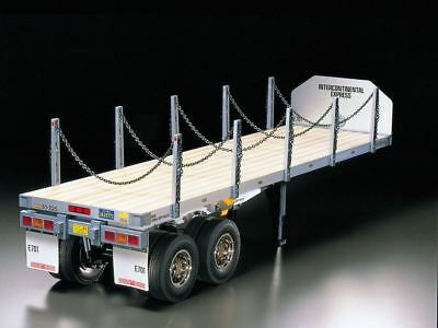 Tamiya RC Flatbed Semi Trailer 1/14 for Tractor Truck Finished built product F/S
