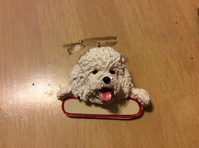E&S IMPORTS Christmas Pet Lover BICHON FRISE Dog Ornament Gift Personalize It!