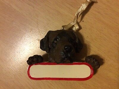 E&S IMPORTS Christmas Pet Lover CHOCOLATE LAB Dog Ornament Gift Personalize It!