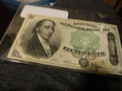 March 3rd, 1863-fifty cents fourth issue fractional currency note.-looks uncir
