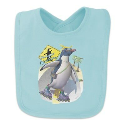 Penguin Crossing Sunglasses Baby Bib