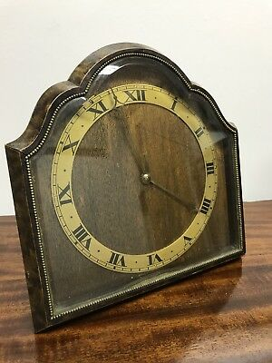 Art Deco Walnut Clock. Working Order. Offers?