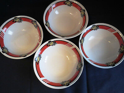4 NOS MWT Unused 2002 Gibson Looney Tunes Tasmanian Devil Taz Cereal Soup Bowls
