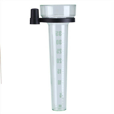 Rain Gauge Tube Sturdy Plastic Garden Outdoor Yard Lawn Measuring Water Home New