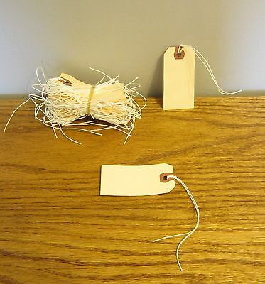 """200 Avery Dennison Pre Strung  #1 Blank Shipping Tags 2 3/4"""" By 1 3/8"""" Scrapbook"""